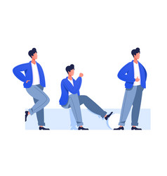 male characters poses vector image