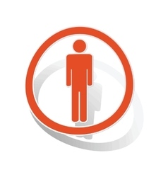Man sign sticker orange vector
