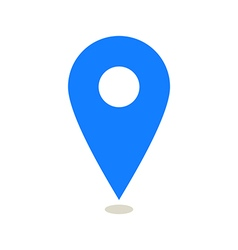 Map pointer icon vector image