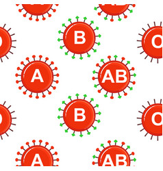 medical seamless background hematology vector image
