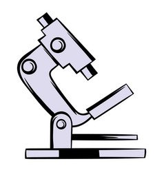 Microscope icon cartoon vector