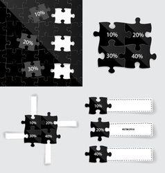 Modern infographics template style business puzzle vector