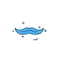 mustache icon design vector image