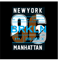 new york t shirt design vector image