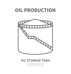 Oil storage tank in linear style vtctor vector