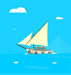 old felucca boat vector image
