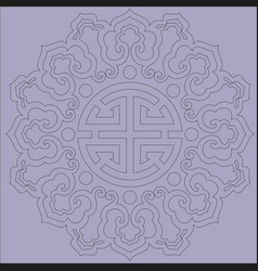 oriental chinese ornament asian traditional vector image