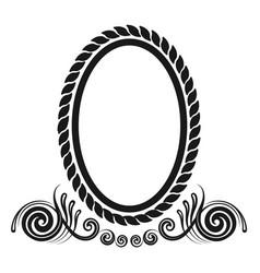 oval decorative border vector image