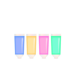 paint tubes colorful artistic icon - creative vector image