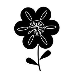 Petunia flower decoration silhouette vector
