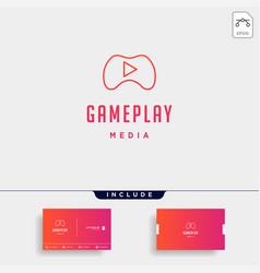 Play button game logo concept design icon element vector