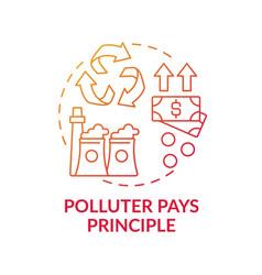 Polluter pays principle concept icon vector