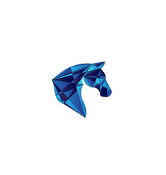 poly head horse logo design vector image