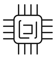 Processor engineering icon outline style vector