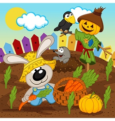 rabbit harvest vector image