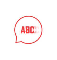 Red stuttering logo like speech bubble vector