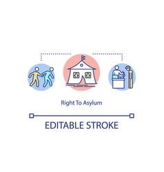 Right to asylum concept icon vector