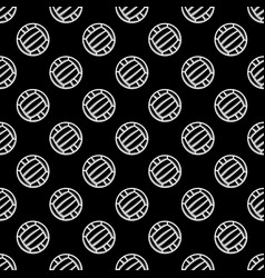 seamless black waterpolo background vector image