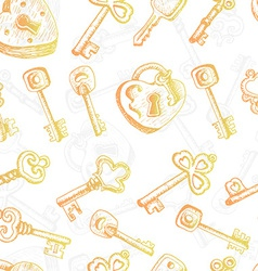 Seamless pattern with different keys vector image