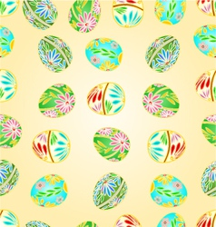Seamless texture Easter eggs floral pattern vector