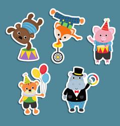 Set of circus animals set of circus animals vector