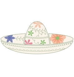 Sombrero vintage vector
