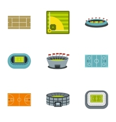 Sports complex icons set flat style vector