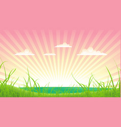 spring or summer landscape vector image