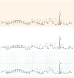 Sydney hand drawn skyline vector