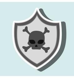 Symbol skull bones data vector
