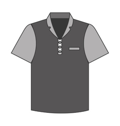 tennis shirt uniform icon vector image