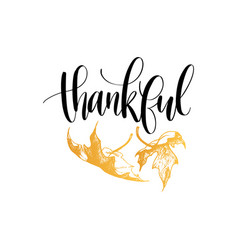 Thankful lettering on white background vector