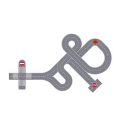 Traffic junction isolated street map segment vector