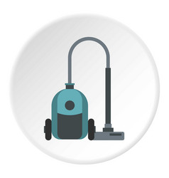 vacuum cleaner icon circle vector image