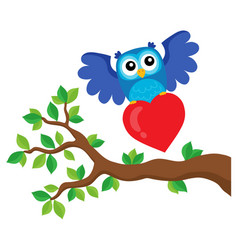 valentine owl topic image 9 vector image