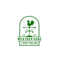 weather vane logo design in vintage style vector image