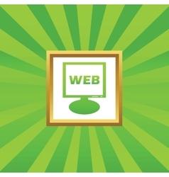 WEB monitor picture icon vector image