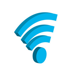 wifi technology to connect in the digital network vector image