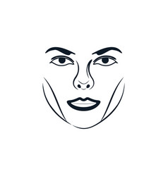 Woman face luxury beauty logo designs inspiration vector