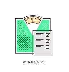 Bathroom scales modern outline icon vector image
