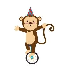 circus monkey cartoon icon vector image vector image