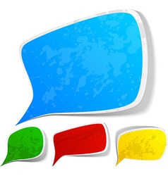 Color grunge speech label designs vector image vector image