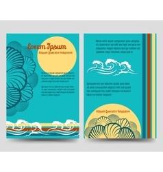 Sea style brochure flyers vector image vector image
