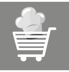Shopping cart gourmet food vector