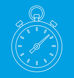 stopwatch icon outline style vector image vector image