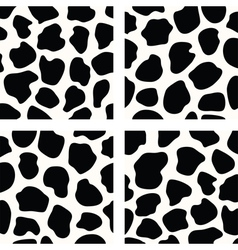 cow skin patterns vector image vector image