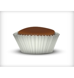 Cupcake in white Cup vector image