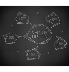 Design elements for options vector image