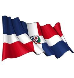 Dominican Republic Flag vector image vector image