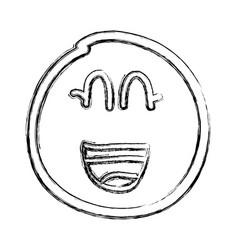 lemon fruit kawaii character vector image